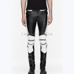 Designer Ribbed Men Leather Pant