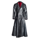 Halloween Blade Vampire Black Men Leather Coat