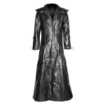 Halloween Gothic Long Men Leather Coat