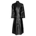 Halloween Preacherman Long Men Leather Coat