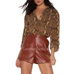 Classic Style High Waist Women Shorts