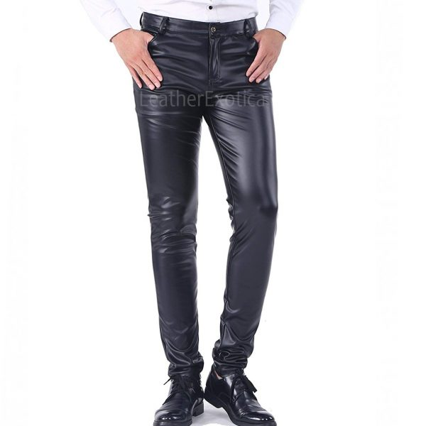 Corporate Style Five Pocket Men Leather Pant