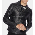 Slim-Fit Silhouette Men Leather Jacket