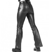 Studs Detailing Men Leather Trousers back