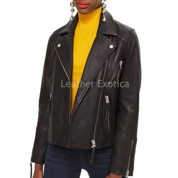 Unique Style Women Biker Jacket