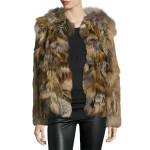 Faux Fur Women Leather Coat