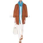 Notch Collar Women Oversize Leather Coat