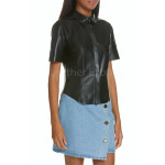 Corporate Women Leather Shirt
