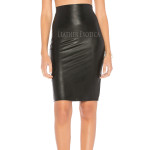 Corporate Style Pencil Leather Skirt