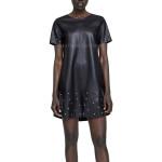 Studded Women Mini Length Leather Dress