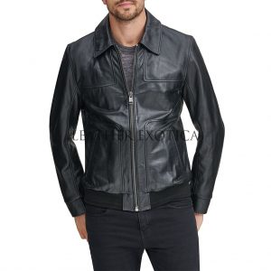 3cf2a1c0a Han Solo Smuggler Leather Jacket For Men